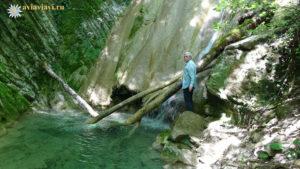 Водопад Любви на верхней тропе Мамедова ущелья